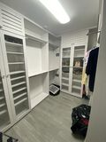 Large Walk-In Closet System With Two Enclosed Cabinets, Clothing Hanging Racks, 3