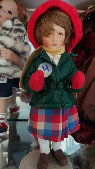 """15"""" Porcelain Doll In Winte"""
