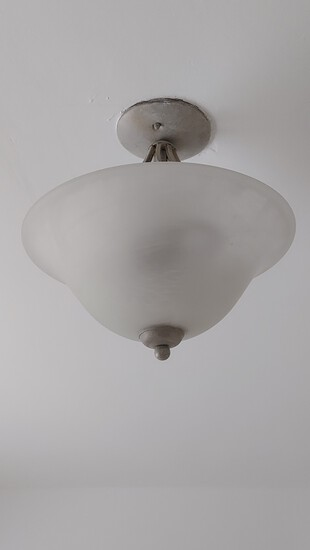 """12"""" Frosted Glass Pendant Chandelier"""