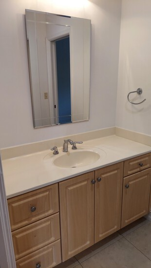 """Complete Bathroom, Including 59"""" Vanity With Formed Sink and Countertop, Mirror, American Standard W"""