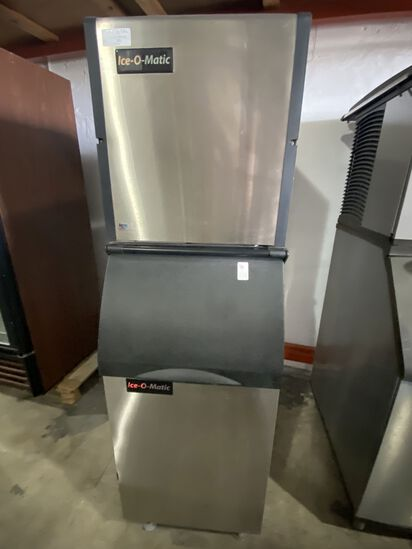 Ice-O-Matic 300 lb, Air Cooled, Ice Maker, With Bin
