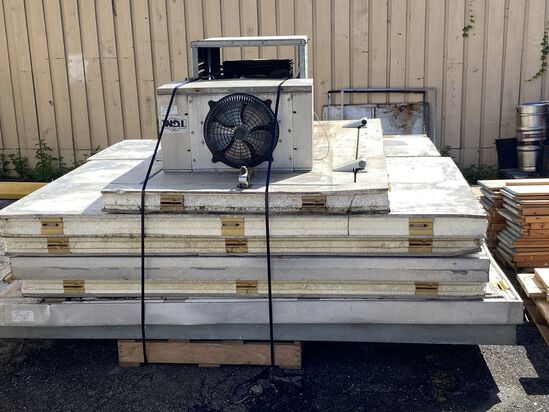 """8"""" x 8"""" Complete Walk-In Cooler. Includes Condensing Unit Evaporator And Floor. This Unit Has Been D"""