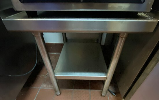 """22""""W x 27""""D Stainless Steel Equipment Stand"""