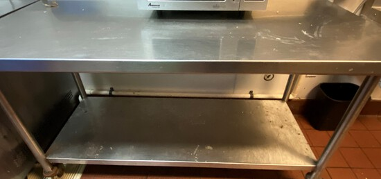 """60"""" x 30"""" All Stainless Steel Table including Table, Undershelf and Legs"""
