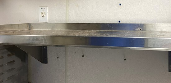 """42"""" Stainless Steel Wall Mounted Shelve"""