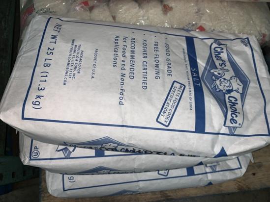 25 Lb Bags of Salt