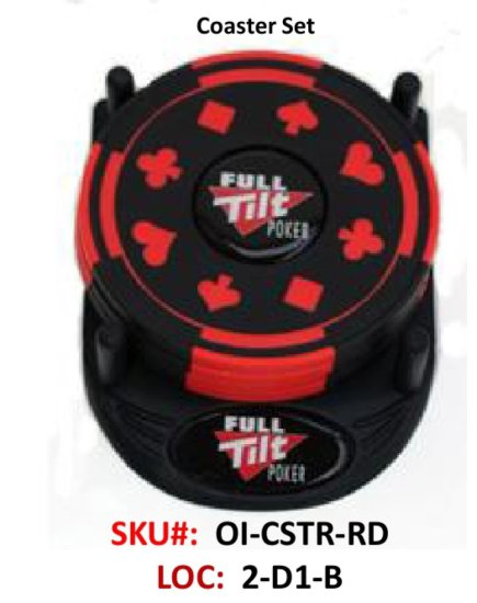 4-pc Coaster Set, Red