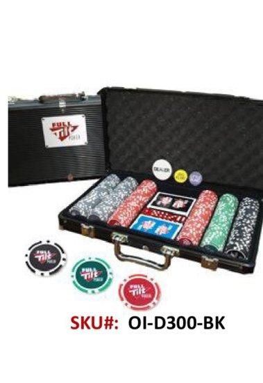 300PC New Denomination Poker Chip Set