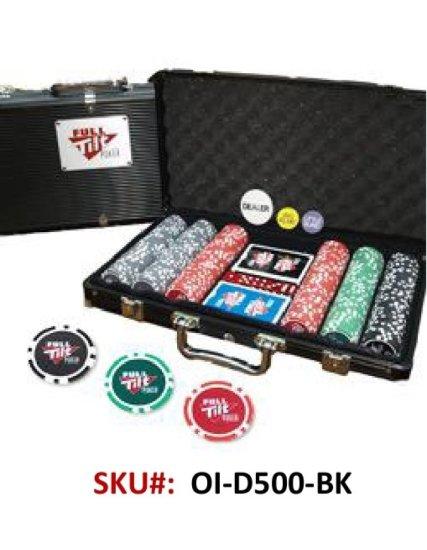 500PC New Denomination Poker Chip SeT
