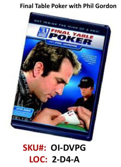 Phil Gordon DVD Final Table Poke!