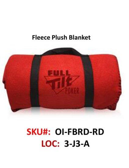 Fleece Blanket, Red