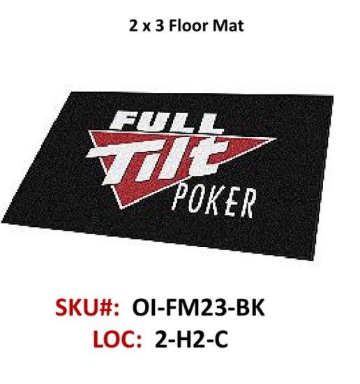 Floor mat w/Rubber Backing 2' x 3