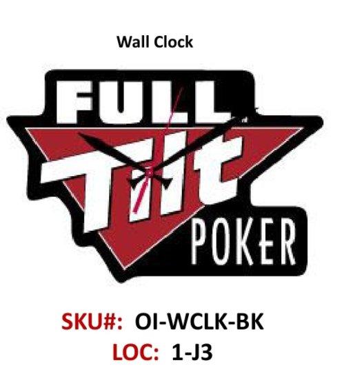 28b6ad58b3e Full Tilt Wall Clock - Black