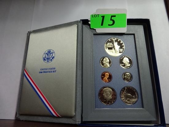 (3) U.S. MINT PRESTIGE SETS: 1986, 1993, 1994