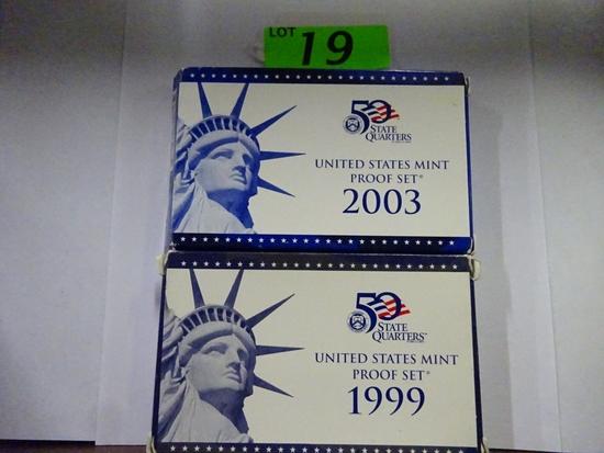 (2) U.S. MINT PROOF SETS: 1999, 2003
