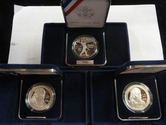 (3) 2006 U.S. MINT BENJAMIN FRANKLIN COMMEMORATIVE COINS
