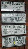 4 SINCLAIR OIL AND GAS LEASE SIGNS