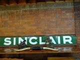 14 FT METAL SINCLAIR SIGN, IN 2 PIECES WITH IRON FRAME (NOT SHOWN)