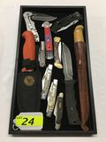 11 FOLDING AND FIXED BLADE KNIVES