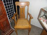 OAK ARM CHAIR WITH CANE SEAT