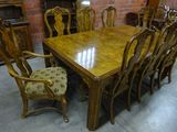 RECTANGULAR DINING TABLE & 8 CHAIRS
