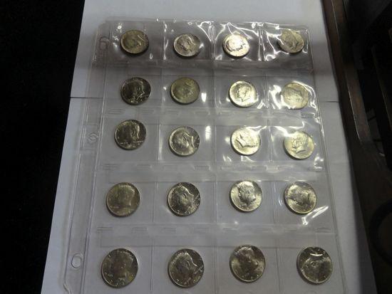 (20) 1964 .900 SILVER KENNEDY HALF DOLLARS