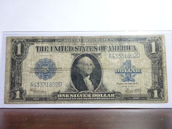 SERIES OF 1923 LARGE SIZE SILVER CERTIFICATE NOTE, SPEELMAN/WHITE SIGNATURES
