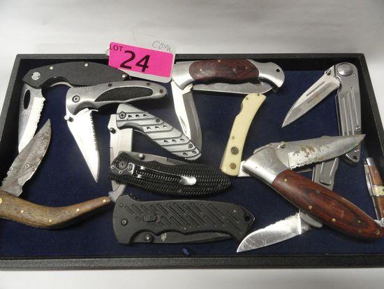 (12) FOLDING KNIVES
