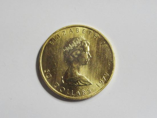 1979 CANADA 50 DOLLAR ONE TROY OUNCE .999 FINE GOLD COIN