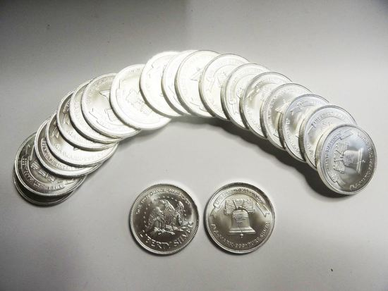 ROLL OF (20) A-MARK ONE TROY OUNCE .999 FINE SILVER ROUNDS