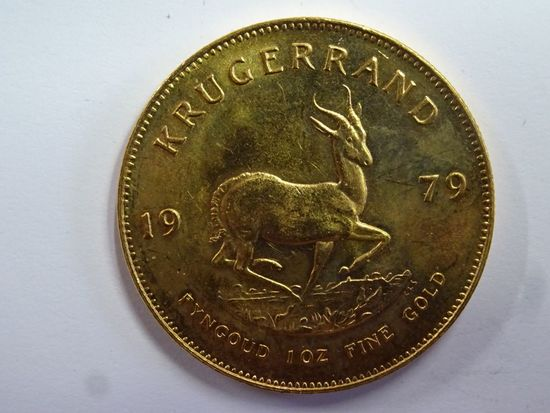 1975 SOUTH AFRICA KRUGERAND, 1 OZ, FINE GOLD COIN