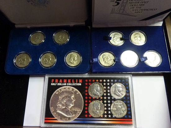 (3) FRANKLIN HALF DOLLAR SETS: