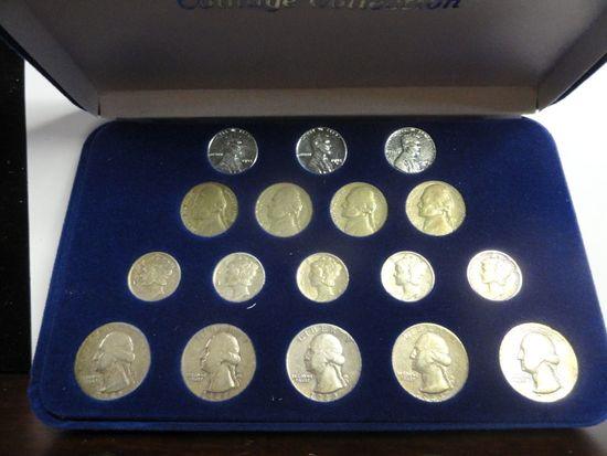 WORLD WAR II 17 PIECE COIN COLLECTION,