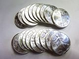 ROLL OF 20 SILVER AMERICAN EAGLE .999 FINE SILVER ONE TROY OUNCE COINS