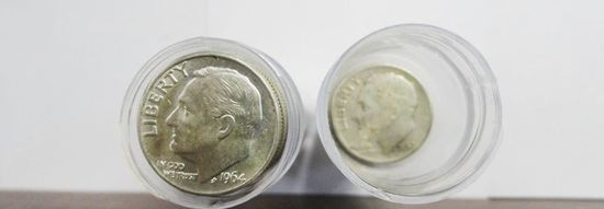 (80) CIRCULATED VARIOUS DATE SILVER ROOSEVELT DIMES