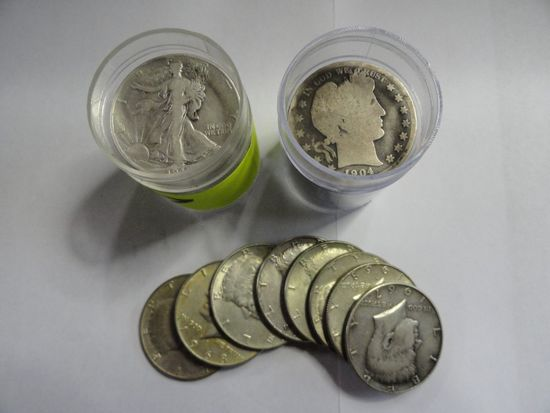 (34) SILVER HALF DOLLARS: