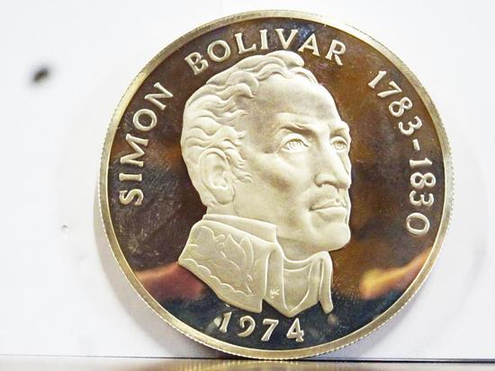 1974 REPUBLICA DE PANAMA SIMON BOLIVAR 20 BALBOAS .