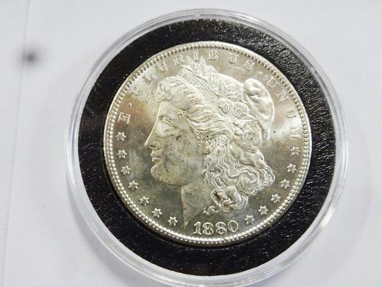 1880-S MORGAN SILVER DOLLAR,