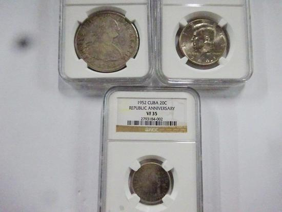 (3) NGC GRADED COINS,