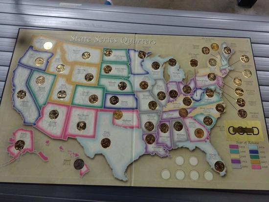 STATE SERIES QUARTERS 1999-2008 COLLECTOR'S MAP,