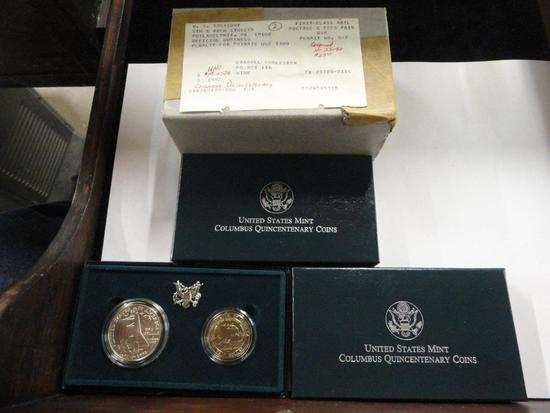 (3) U.S. MINT COLUMBUS QUINCENTENARY COINS