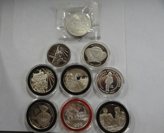 9 SILVER ROUNDS: