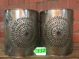 (2) PUNCHED TIN SCONCES