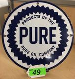PURE OIL COMPANY PLATE (REPRODUCTION)