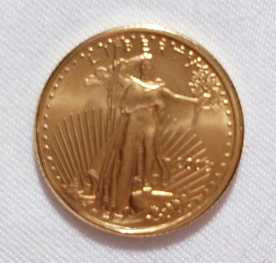 2002 $5 1/10 OZ GOLD AMERICAN EAGLE