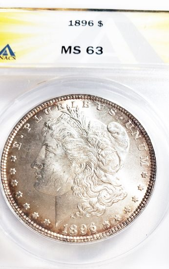 NGC GRADED MS63 1896 MORGAN SILVER DOLLAR