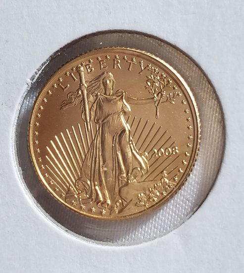 2008 $5 1/10 OZ GOLD AMERICAN EAGLE