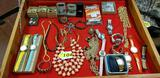 LARGE LOT OF MEN'S AND LADIES COSTUME JEWELRY