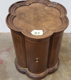 BURLED WALNUT SIDE TABLE