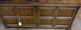 CHEST OR CABINET, WALNUT WITH 2 SIDE DOORS AND ONE INTERIOR SHELF